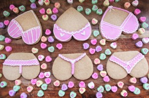 Chef An V-Day cookies pink panties